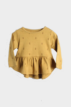 baby wheat peplum top city mouse