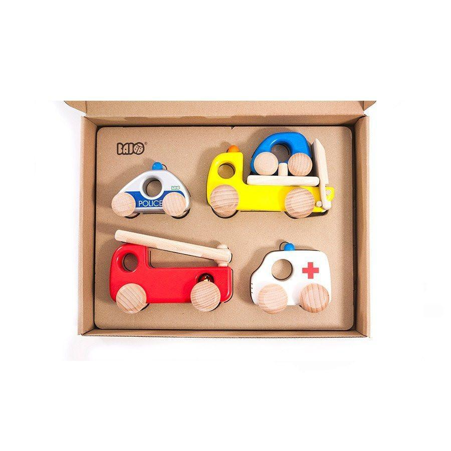 Wooden Emergency Vehicle Set