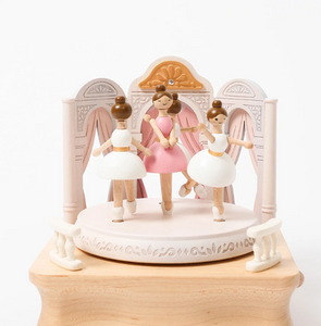 Ballerina Recital Wooden Music Box