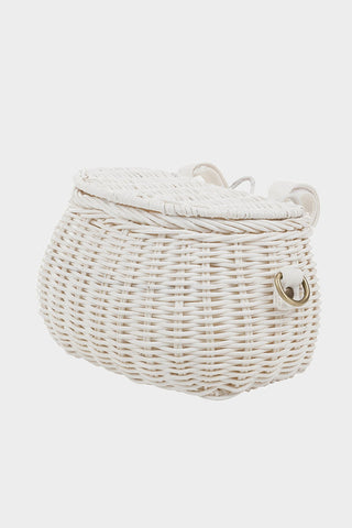 Minichari Basket Bag White