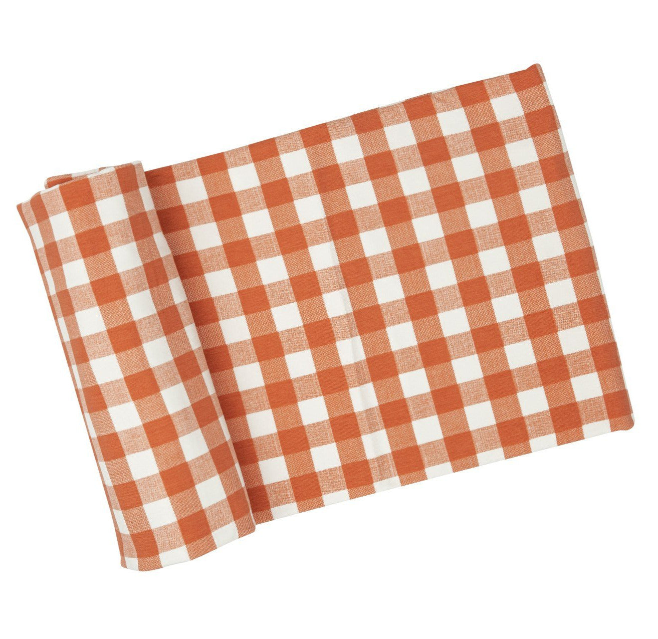Gingham Pumpkin Swaddle Blanket