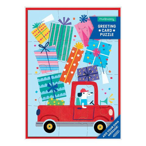 Birthday Truck Puzzle Card