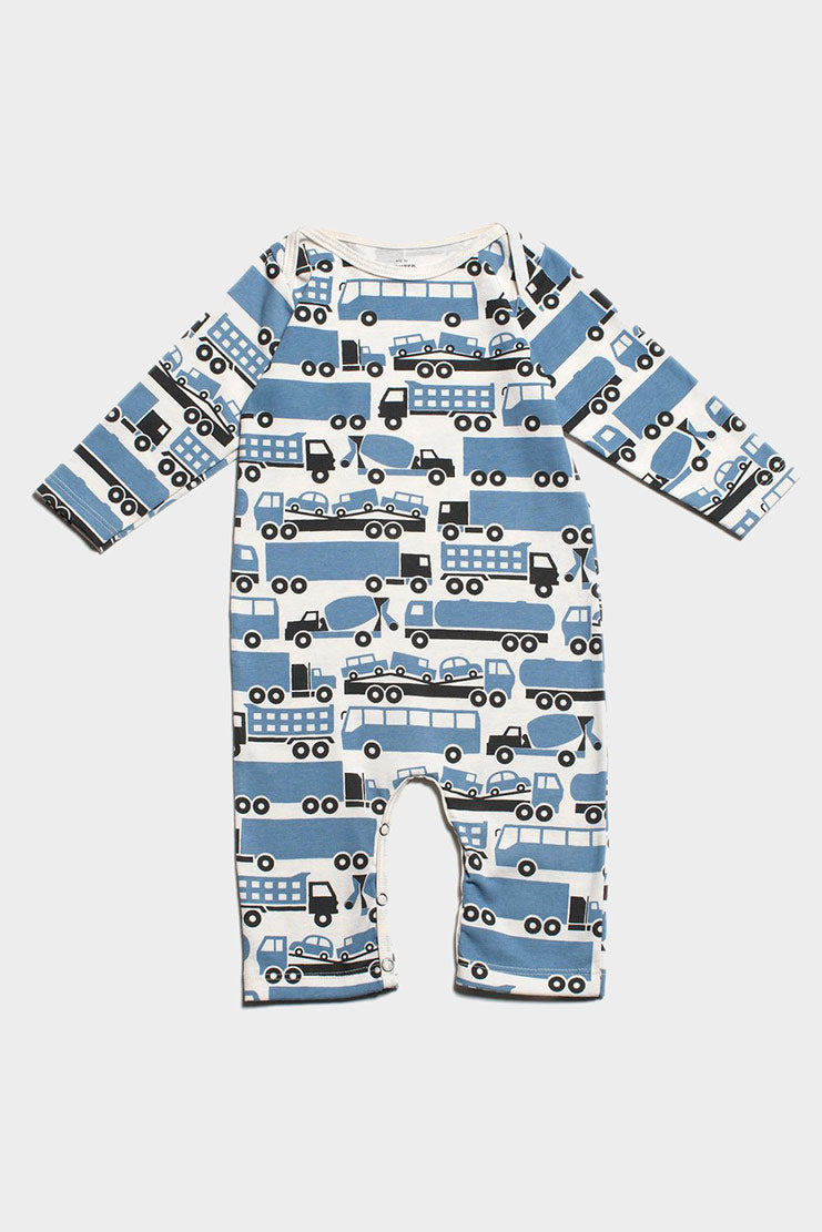 big rig romper, organic cotton, winter water factory