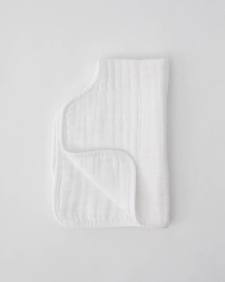 Muslin Burp Cloth - White