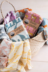 milkbarn organic cotton burpies set burp cloths
