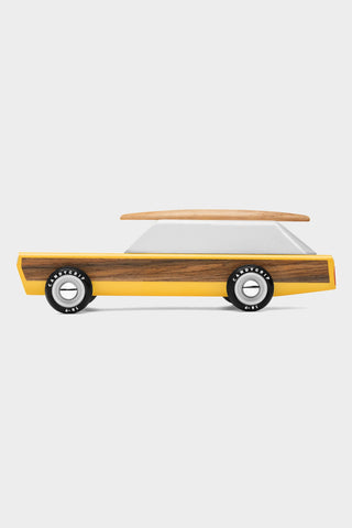 candylab woodie yellow wooden car surfboard magnetic