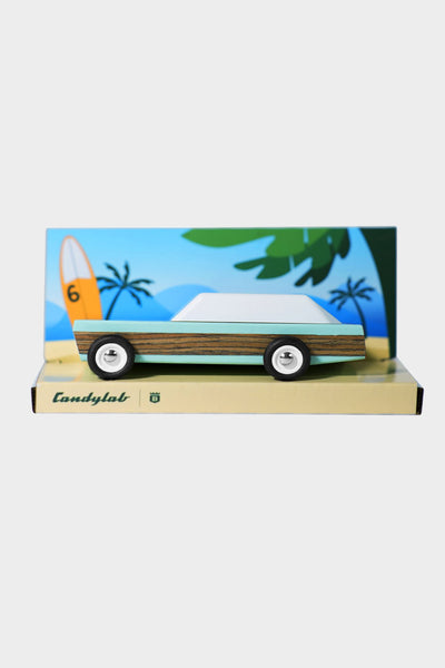 candylab junior woodie blue wooden car