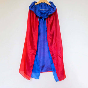 Silk Costume Cape Red & Blue