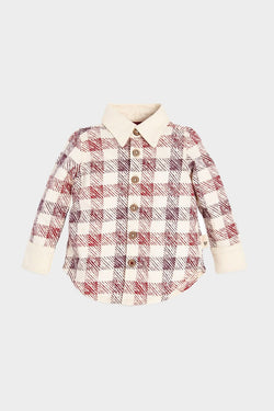 Burts bees stamped check shirt