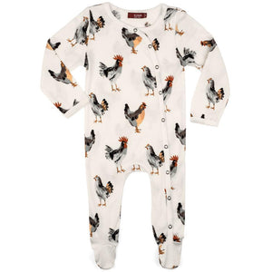 Footed Romper Chicken