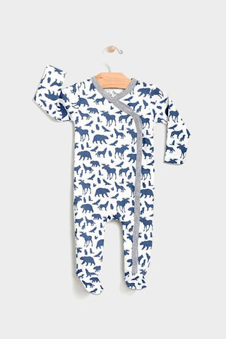 city mouse animals kimono footed romper