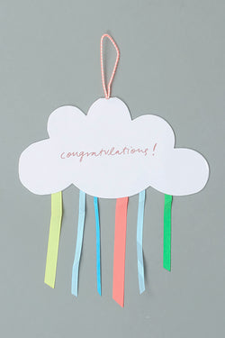 Cloud Mobile Congrats Card