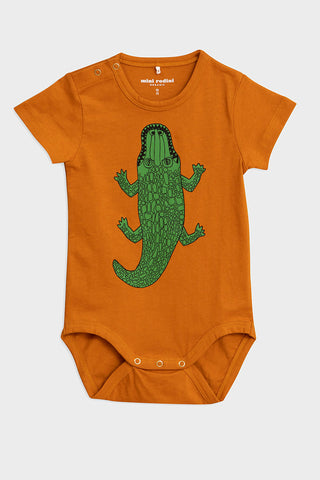 crocco brown Mini Rodini onesie
