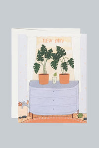Nursery Plants Baby Card