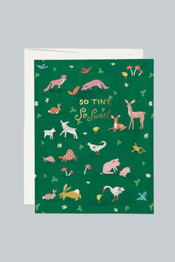 Tiny Animals Foil Baby Card