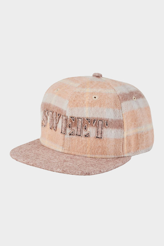 Sweet Camel Plaid Cap (3-7 years)