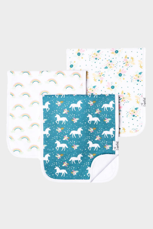 Whimsy Burp Cloth 3 Pack Set
