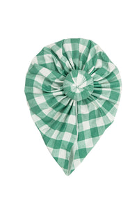 Green Gingham Norma Headwrap