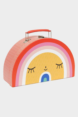 Double face suitcase Rainbow & Sun