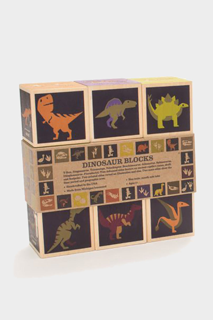 uncle goose dinosaur wooden blocks