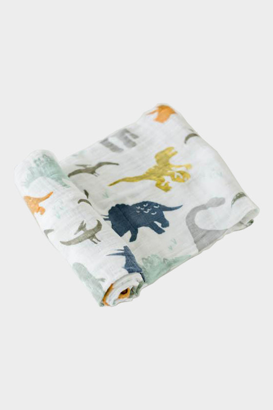 little unicorn dino friends swaddle