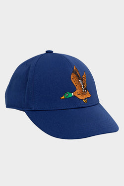 blue duck embroidery cap