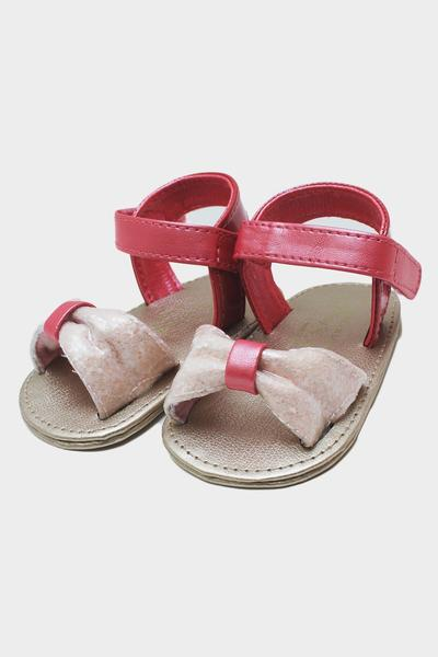 Coral Pink Bow Sandals
