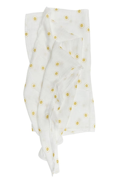 Muslin Swaddle Blanket - rise and shine