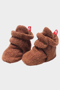 Cozie Fleece Booties Chocolate
