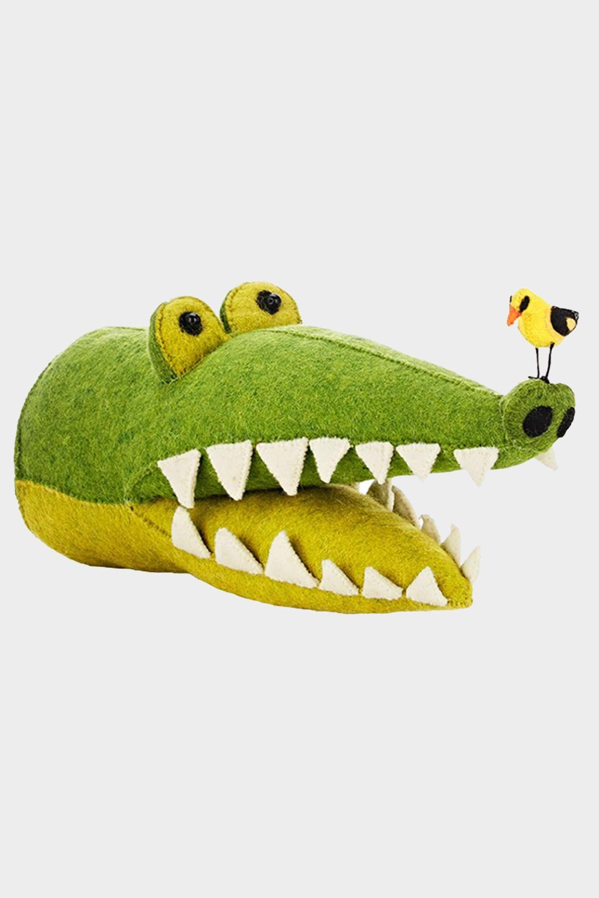 Crocodile w/ Bird Wool Mount