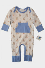 feather baby goodnight moose kangaroo pocket romper