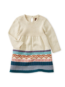 Fox Fair Isle Baby Dress