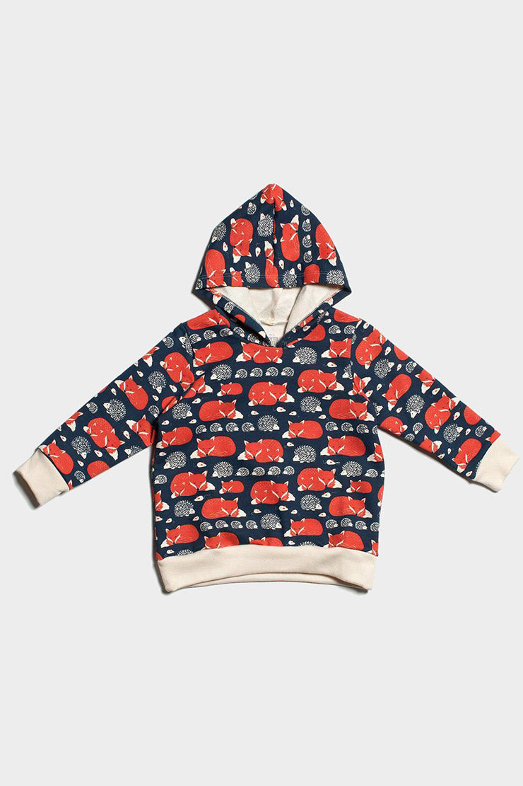 foxes & hedgehogs hoodie from winter water factory