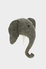 Mini Elephant with Tusks Wool Mount
