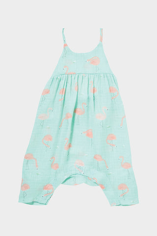 angel dear flamingo bow romper
