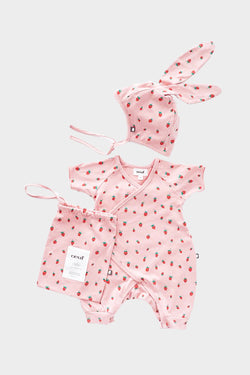 Bunny Strawberries Outfit Set (newborn-3 months)