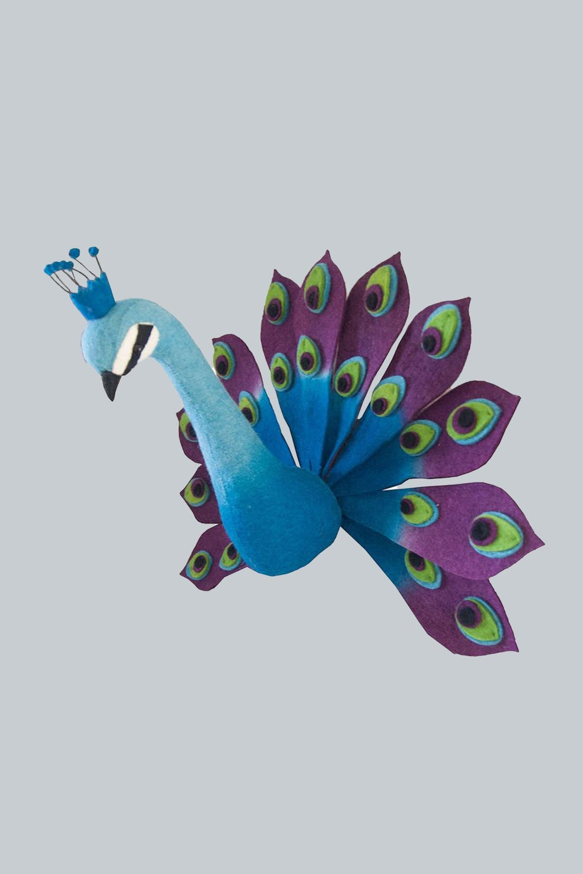 Peacock Wool Mount