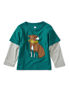 Layered Dog Kid Graphic Tee