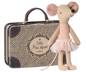 Little Miss Mouse Ballerina in Suitcase