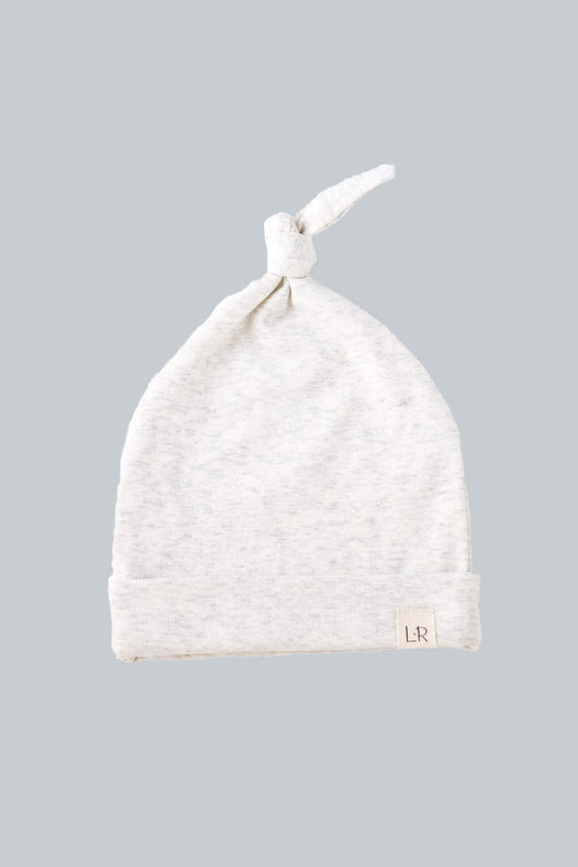 Oatmeal Grey Knot Hat 0-6 months