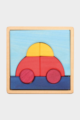grimm's wooden car puzzle