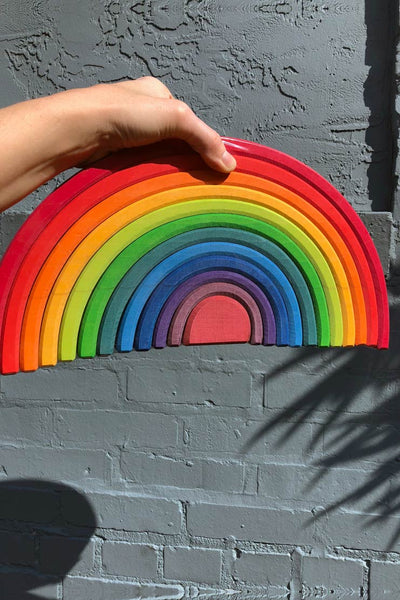 grimm's wooden rainbow large