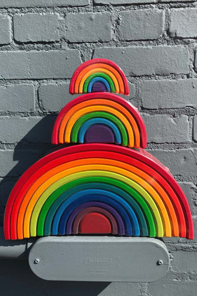 grimm's wooden rainbow set