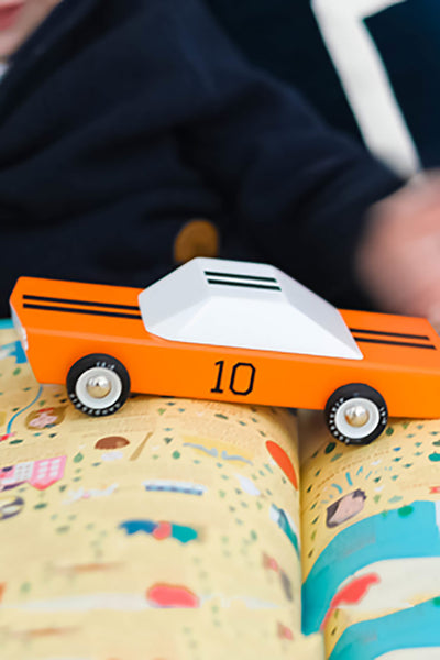 candy lab wooden car