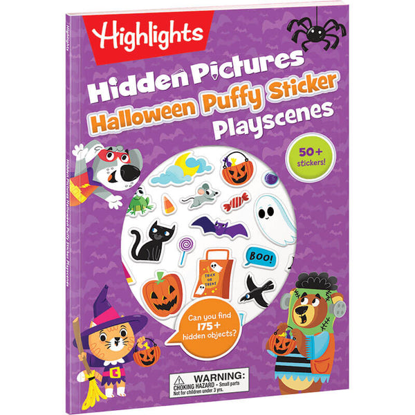 Halloween Puffy Sticker Play Scene