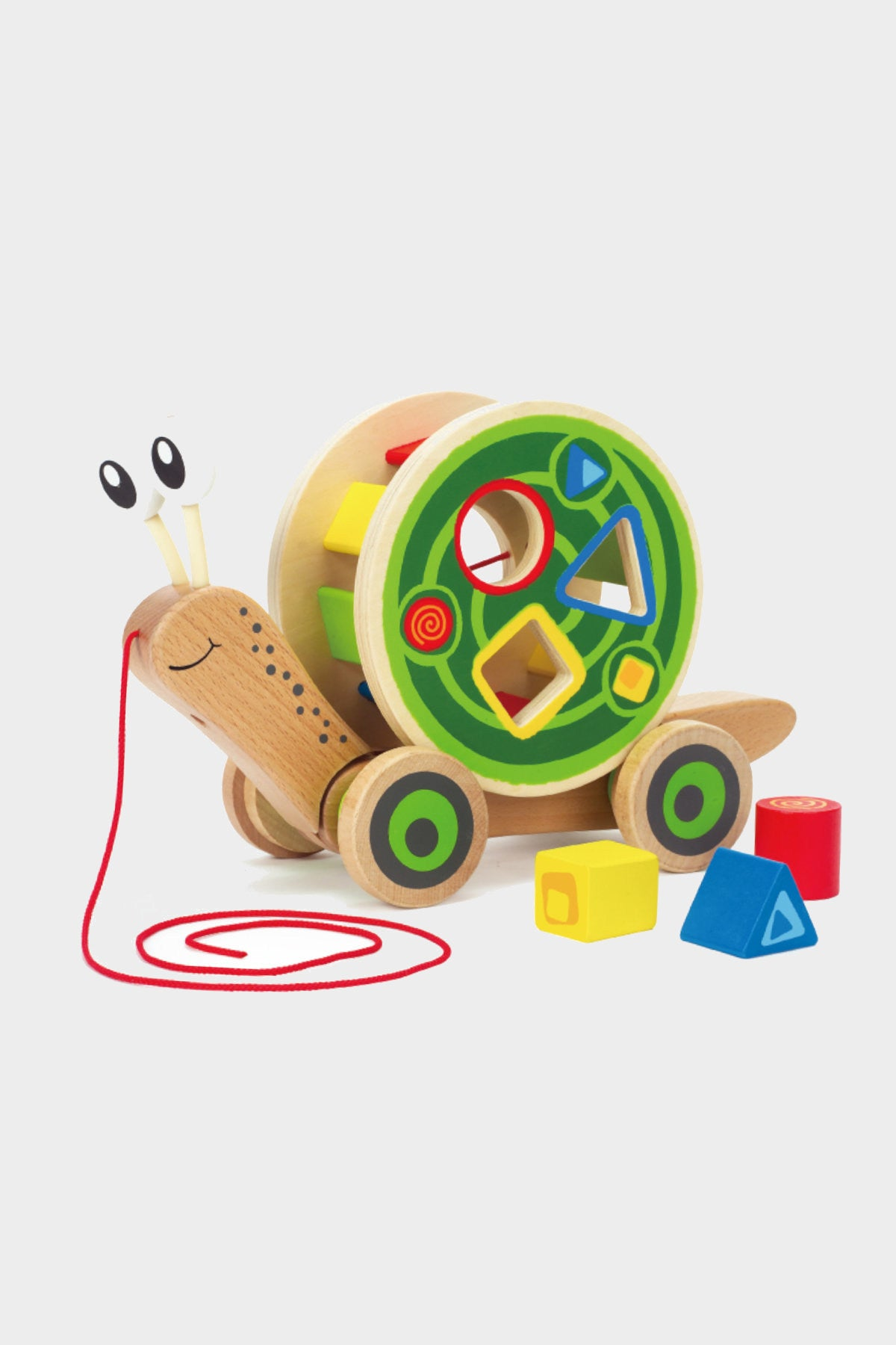 hape walk along snail wooden shape sorter toy