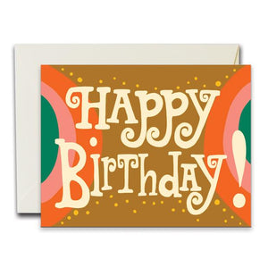 Happy Birthday Arches Card