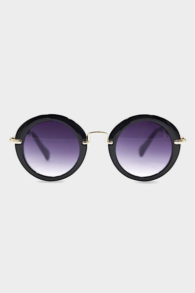 henny and coco caroline black sunglasses round