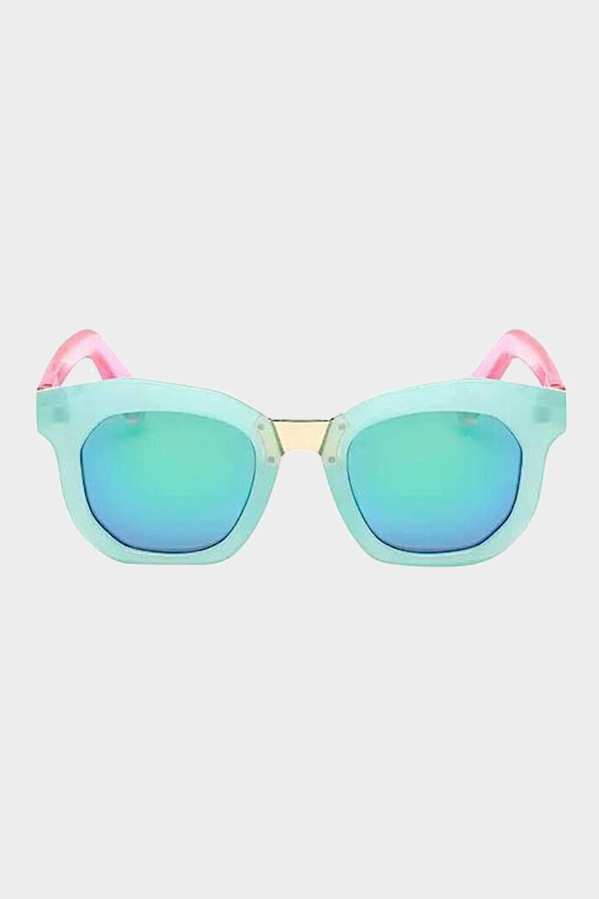 henny and coco hadley sunglasses aqua blue and pink
