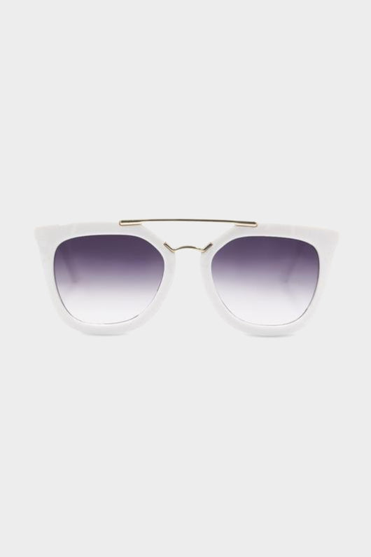 henny and coco isabelle white sunglasses